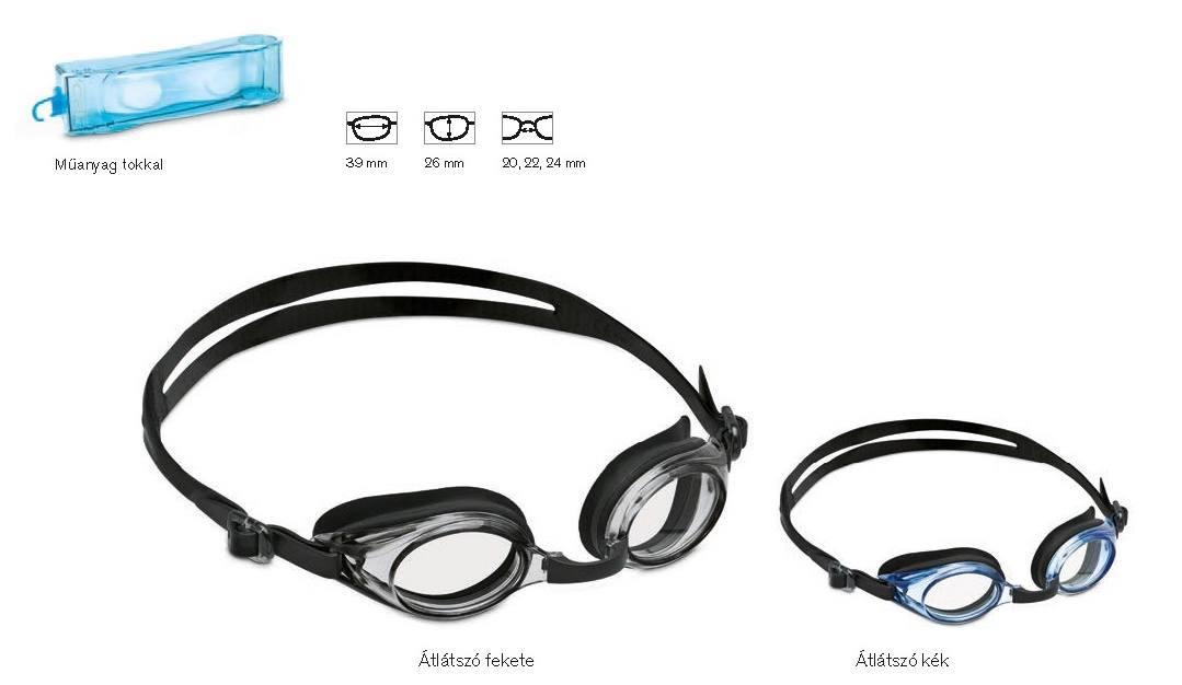 Egyedileg dioptriázható úszószemüveg, dioptriás úszószemüveg