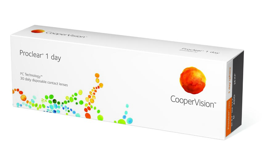 Cooper Vision 1 day disposable contact lens
