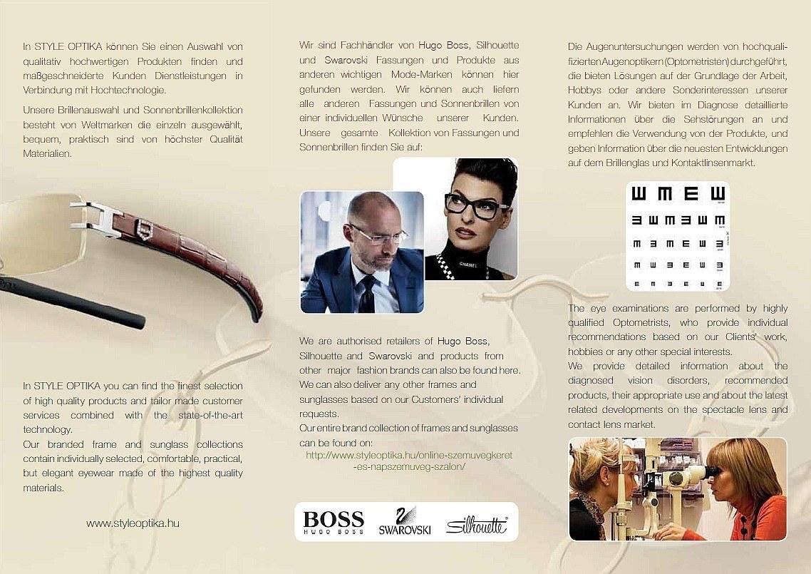 Style Optika leaflet D-EN 2