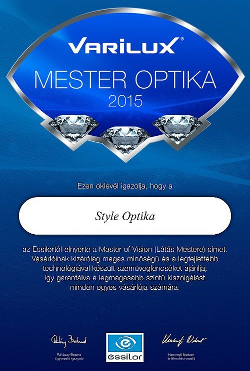 STYLE OPTIKA - VARILUX MESTER OPTIKA