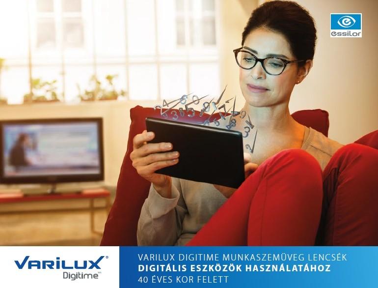 Varilux Digitime munkszemüveg lencsék digitális eszközök használatához 40 év felett