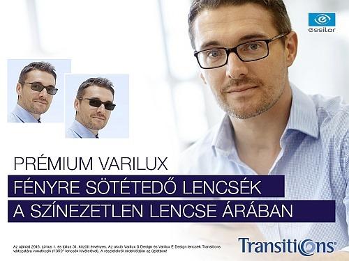 VARILUX fényre sötétedő multifokális szemüveg akció!