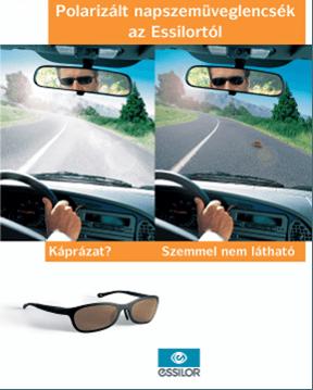 Csak a polarizált szemüveg véd a vízszintes felületekről visszatükröződő fény vakítása ellen