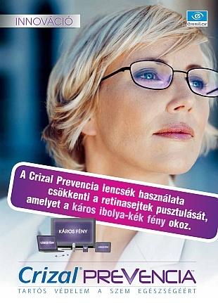Crizal Prevencia - kék fény elleni védelem