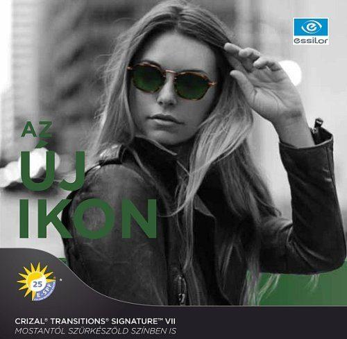 Transitions zöld fényre sötétedő szemüveglencse, Crizal Prevencia szemüveg, Varilux multifokális szemüveglencse, progresszív szemüveglencse, Varilux szemüveglencse